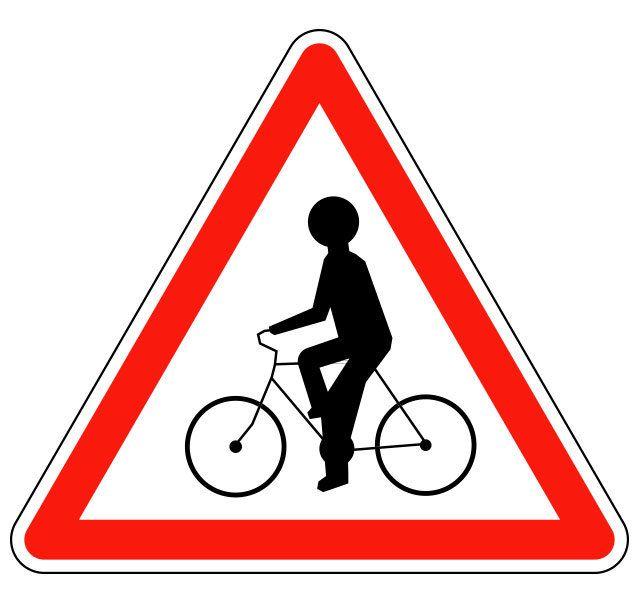 Panneau débouché de cyclistes