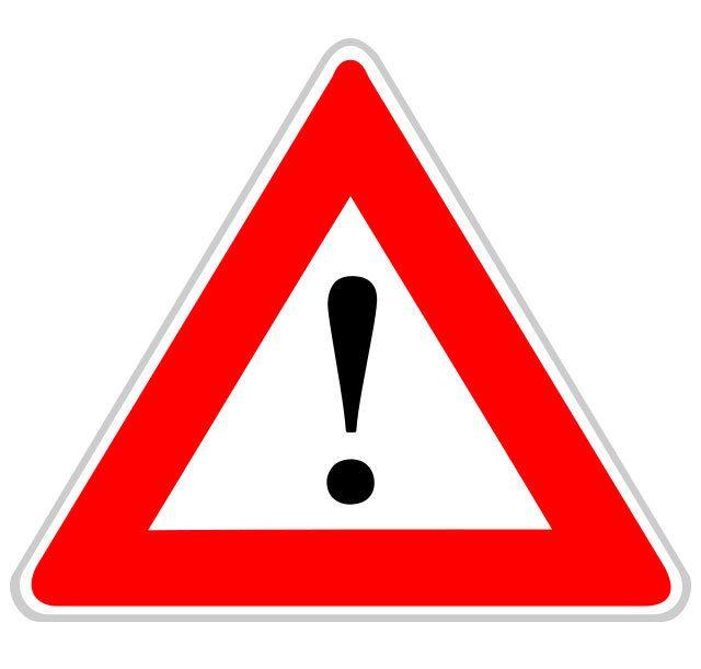 Panneau de signalisation de danger