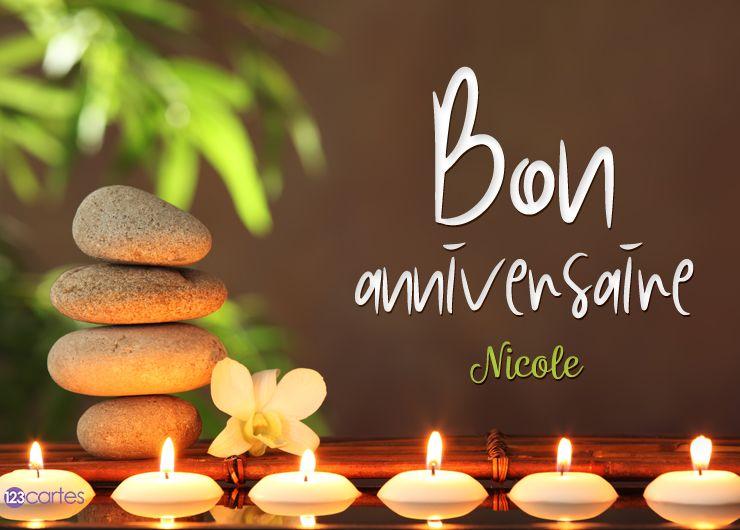 12 Cartes Anniversaire Avec Le Prénom Nicole 123cartes