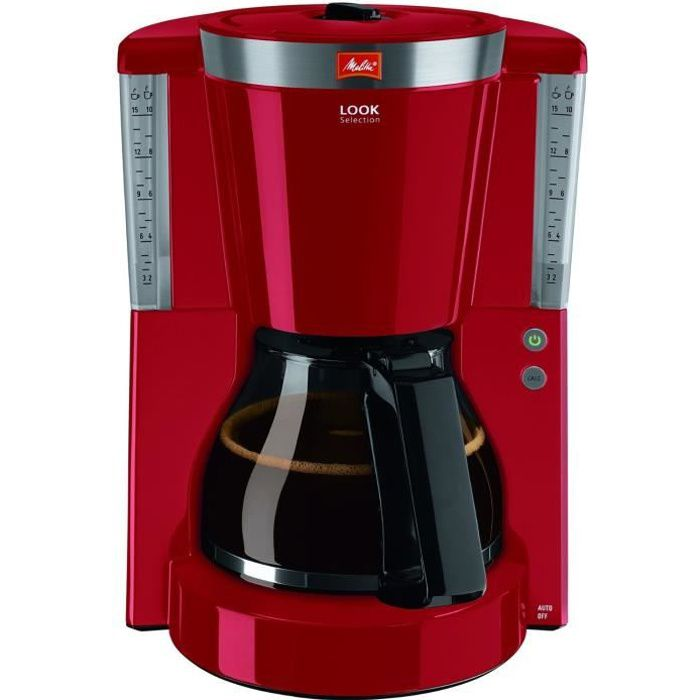 melitta 1011 17 cafetiere filtre look iv selection rouge