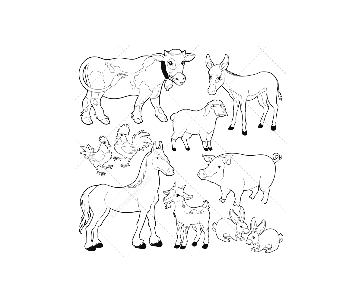 Livestock Vectors And Farm Illustrations In Megapack