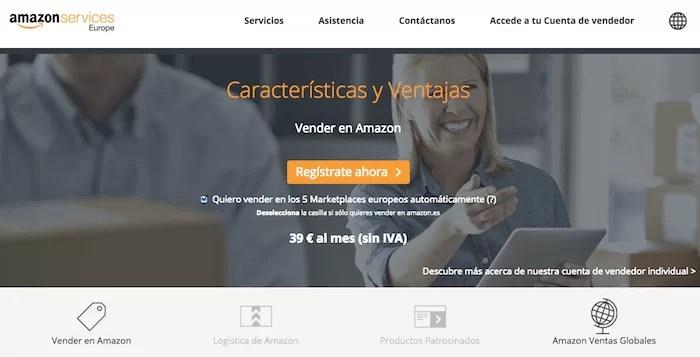Amazon - vender cosas online