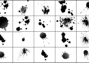 Blood Splatters Photoshop Brushes Free