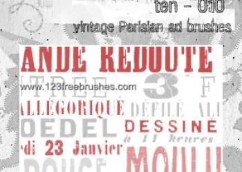 Vintage Parisian Ads