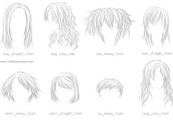 Line Art Hair