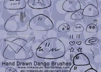Hand Drawn Dango