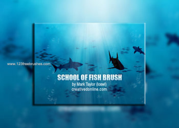 Fish Brush Silhouette Set