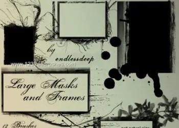 Large Masks and Frames