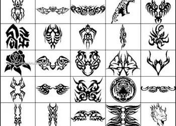 Tribal Tattoo Brushes Photoshop