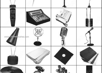 Microphone – Antenna Photoshop Brushes
