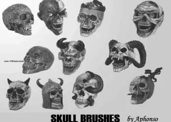 Vampire Horn Skull