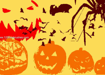 Free Halloween Brushes Photoshop 7
