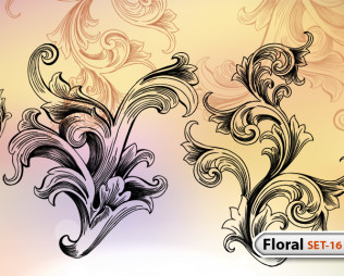Hand Drawn Floral -Set-16