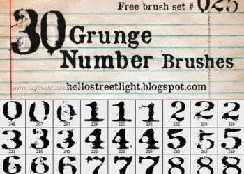 Grunge Numbers