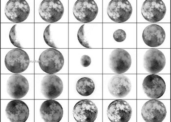 Free Moon Brush Photoshop