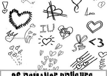 Romance Heart Doodle