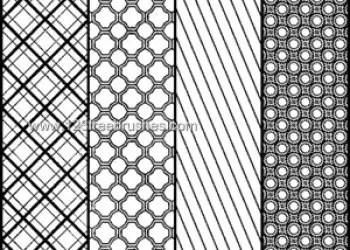 Circle and Striped Pattern