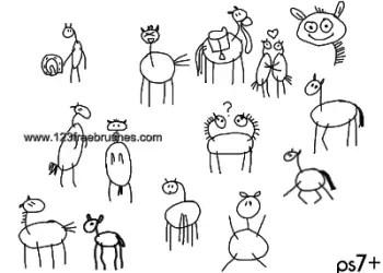 Doodle Horses