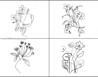 Hand Drawn Doodle Flowers Brushes