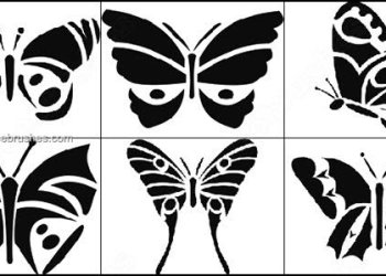 Free Butterfly Silhouettes Photoshop Brushes