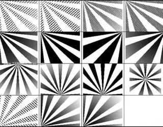 Abstract Sunburst Brushes for Photoshop CS2
