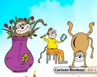 Cartoon Monkeys -