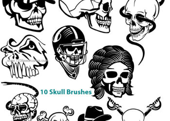 Free Skull Photoshop Brushes
