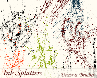 Ink Paint Splatter Drips Vector Illustration