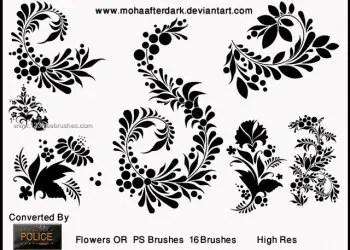Flower Brushes Photoshop Elements 9