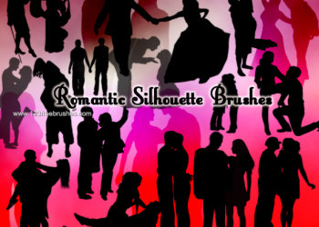 Romantic Lovers Silhouettes