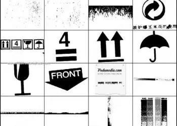 Arrow Symbols – Umbrella Photoshop Brushes