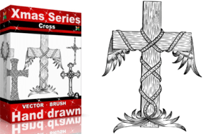 Xmas Series: Hand Drawn Cross
