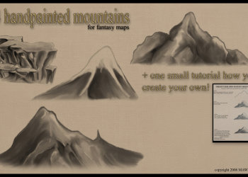 Hand painted Mountains