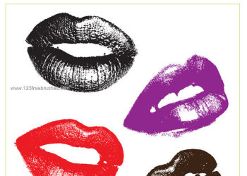 Lips Free Vector and Photoshop Brushes