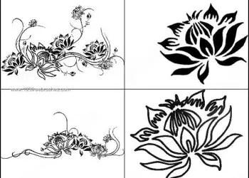 4 Lotus Brushes for Photoshop CS2