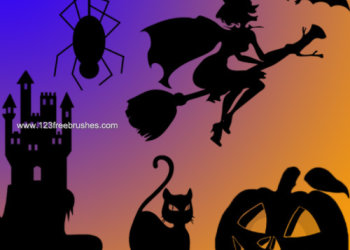 Halloween cat spider pumpkin
