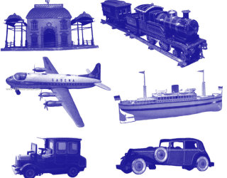 Airplane – Old Cars – Ship – Train Toys