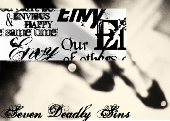 Seven Deadly Sins – Envy Text