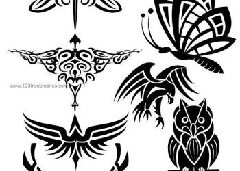 Birds – Insects and Wings Free Photoshop Brushes