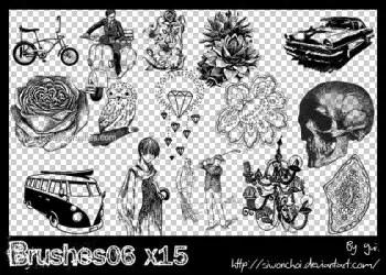 Vintage Flowers – Cars – Van – Cycle – Skull