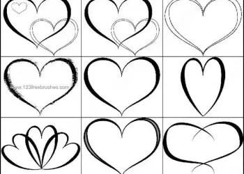 Heart Symbol for Photoshop Brushes