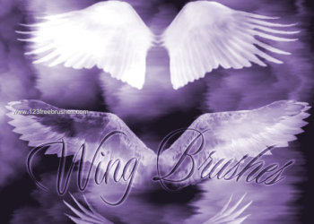 Free Wings Photoshop CS2 Brushes