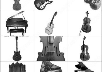 Music Photoshop Brushes Violin – Piano