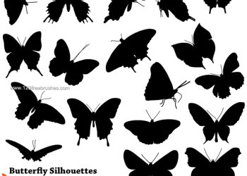 Free Butterfly Silhouette Brushes