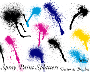 Spray Paint Splatter Vector Illustration