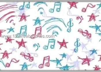Rock Music Doodle