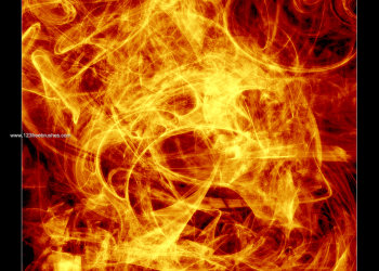 Abstract Fire Flame Fractal