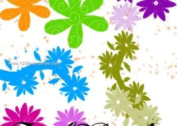 Flower Brushes Photoshop Elements