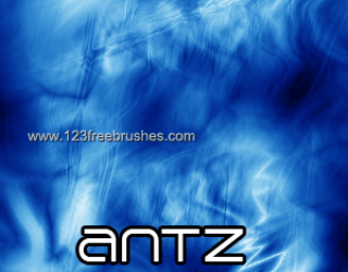 Abstract Blue Fractal