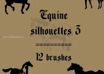 Equine Horse Silhouettes